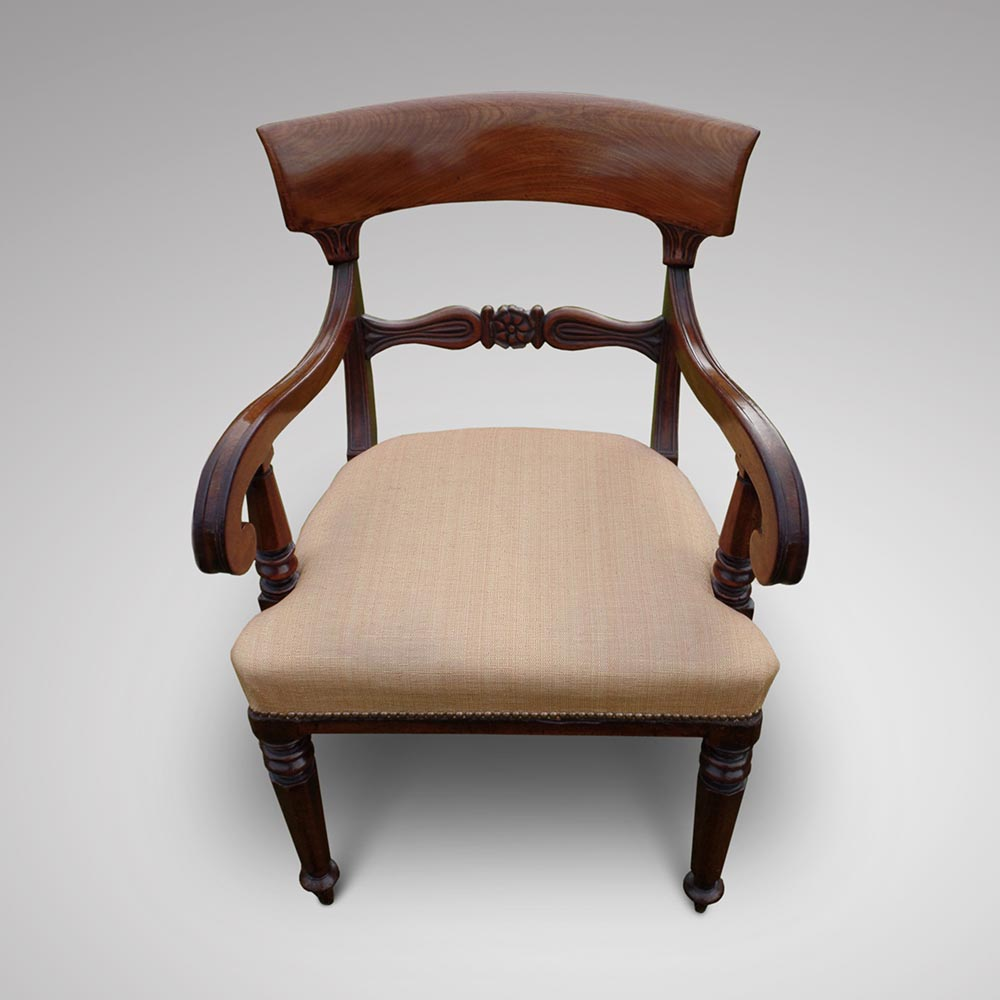 A very good set of ten william iv mahogany dining chairs for Furniture 1825