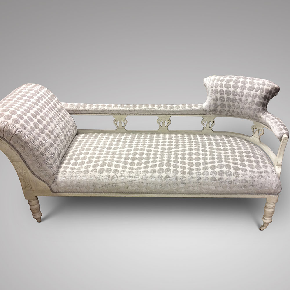 A decorative painted chaise lounge ca 1890 1910 for Chaise decorative